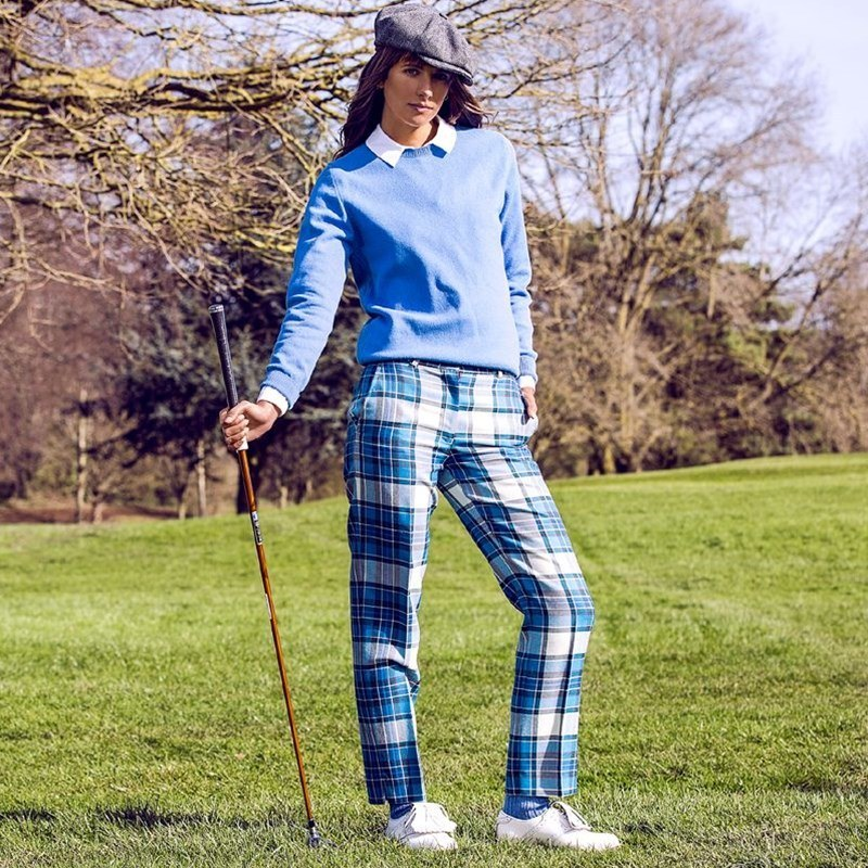 Women's Tartan Golf Trousers