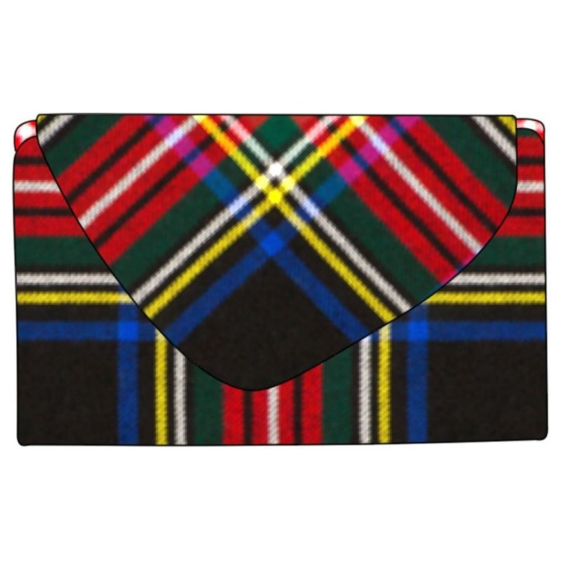 Tartan Purse in Stewart Black Modern