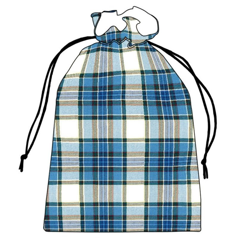 Tartan Shoe Bag in Tiree Turquoise BCH031