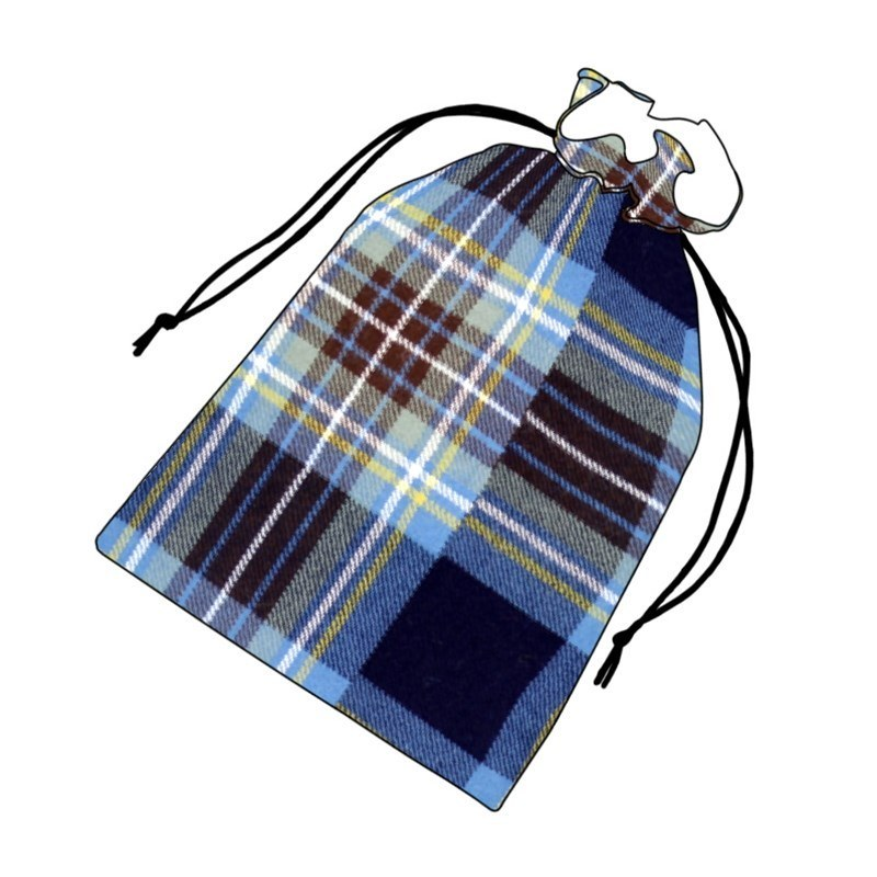 Tartan Golf Tee Bag in Holyrood Polyviscose BA008T