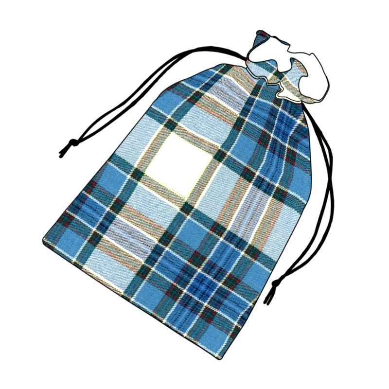 Tartan Golf Tee Bag in Tiree Turquoise BCH031