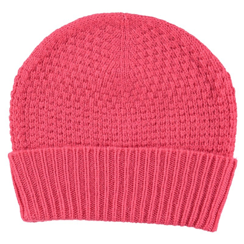 Tuck Stitch Cashmere Hat
