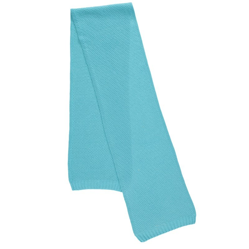 Tuck Stitch Cashmere Scarf