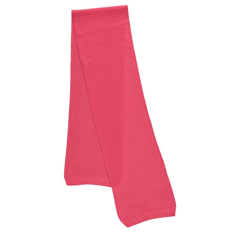 Tuck Stitch Cashmere Scarf in Coral