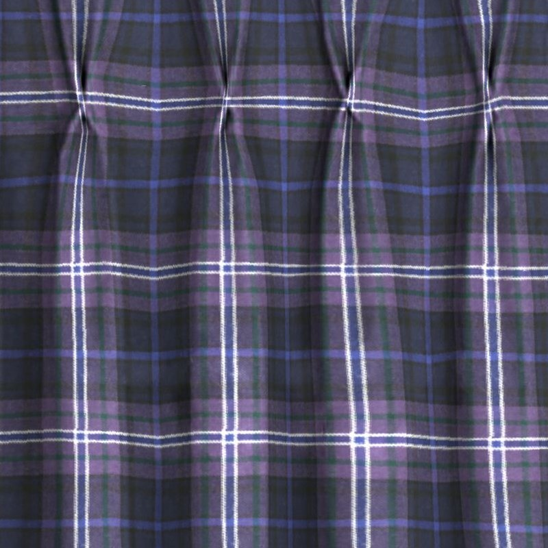 Pinch Pleat Tartan Curtains