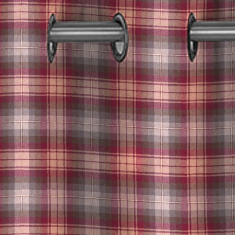 Eyelet Tartan Curtains Made To Order