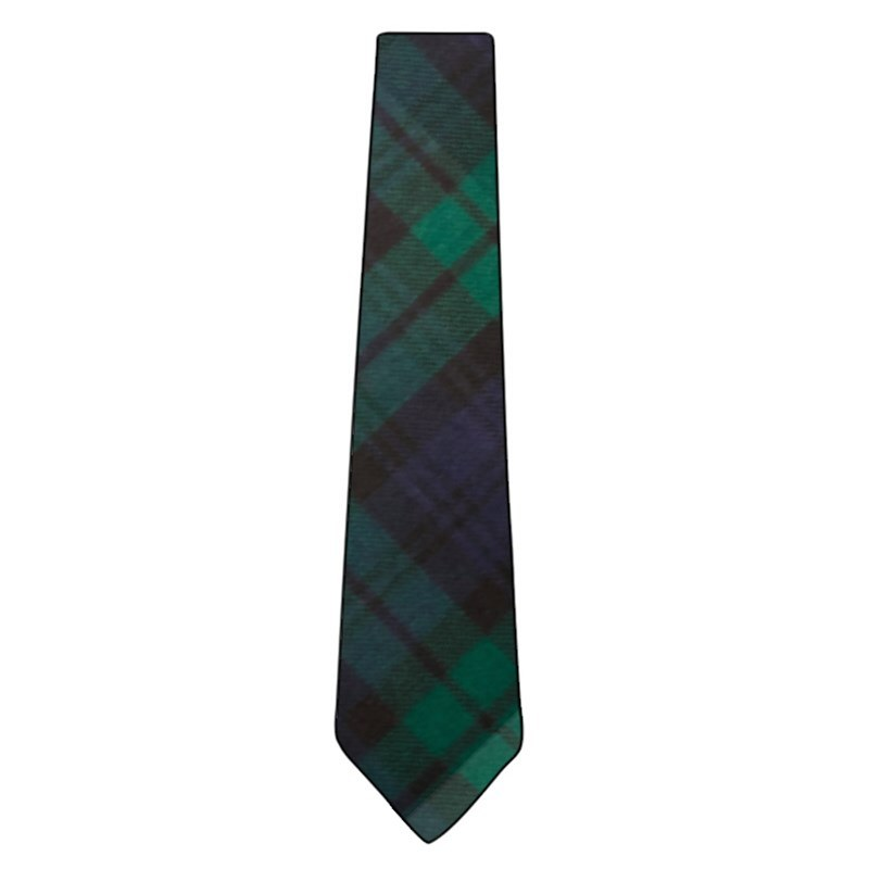 Wool Tartan Tie in Black Watch Modern