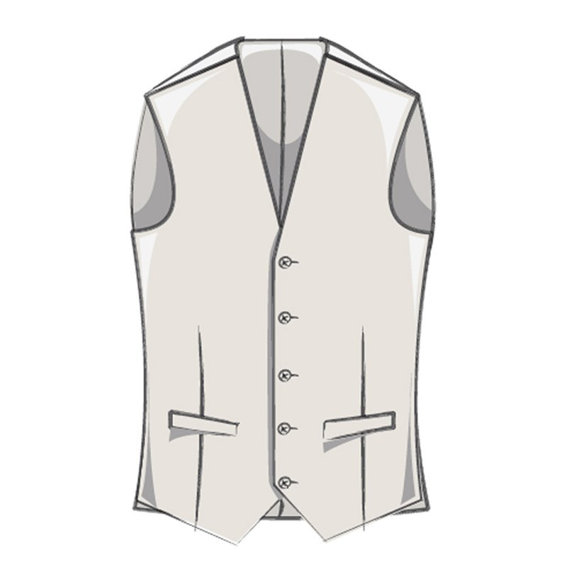 Men's Bias Cut Wool Plaid Vest Made To Order