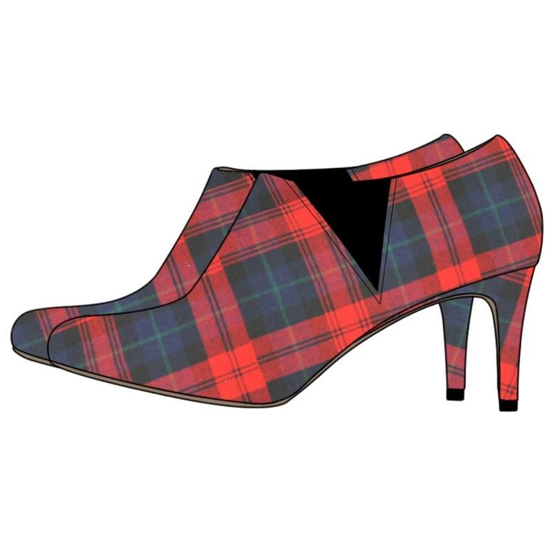 Women's Plaid Ankle Boots - Narrow Heel in MacLachlan Modern