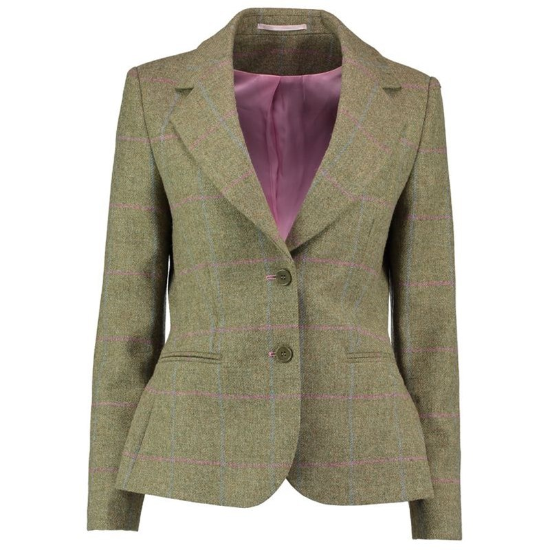 Women's Tweed Jacket 2 Button Fastening in Cairngorm Crossbill (CGE187)