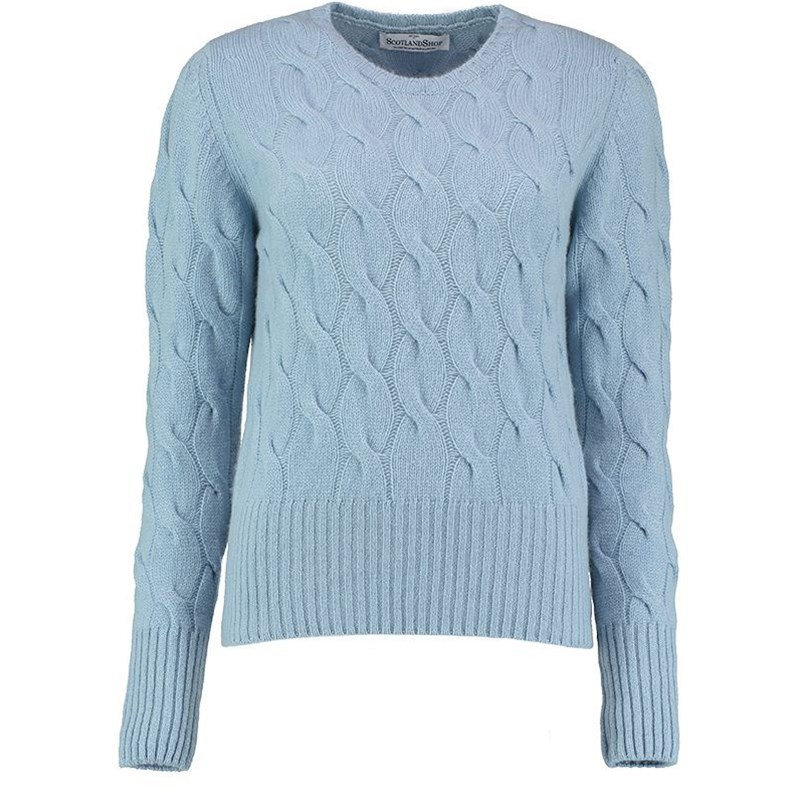 Women's Cable Knit Cashmere Sweater
