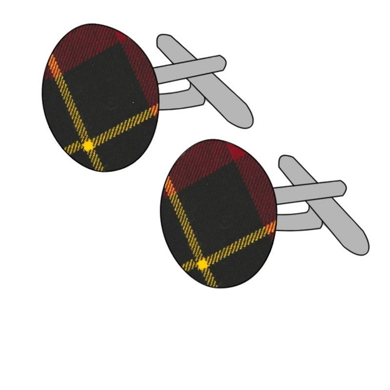 Wool Tartan Cufflinks in Wallace Modern