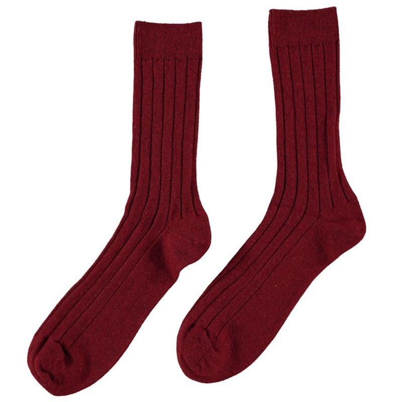 Men's Cashmere Socks in Russet Red