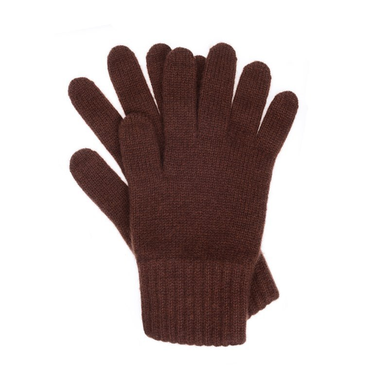 Men's Cashmere Gloves in Brown