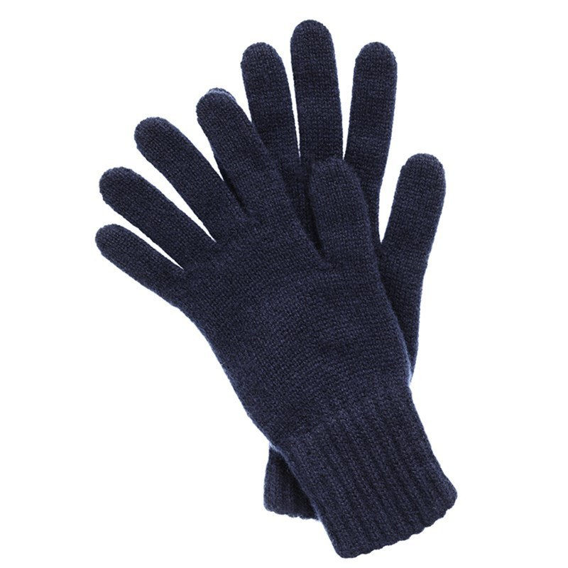 Men's Cashmere Gloves in Navy Blue
