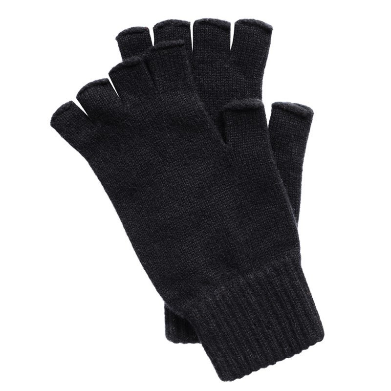 Guantes sin dedos in Black