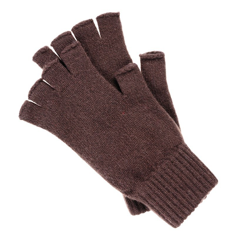 Guantes sin dedos in Brown