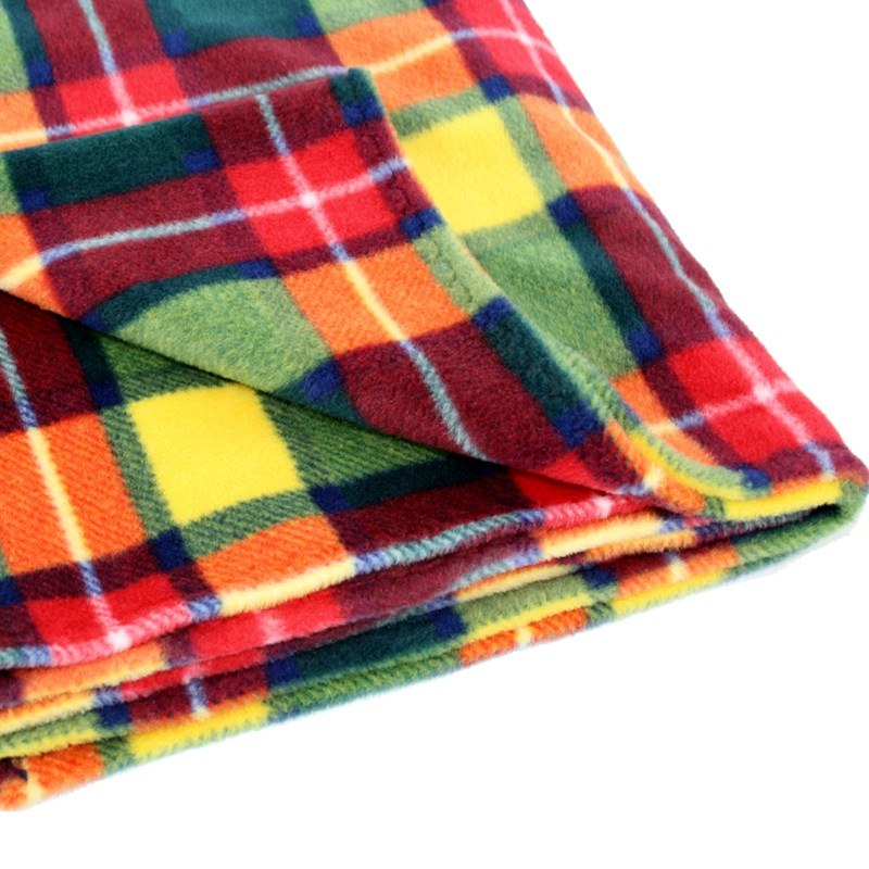 Tartan Fleece Babydecke in Buchanan Modern