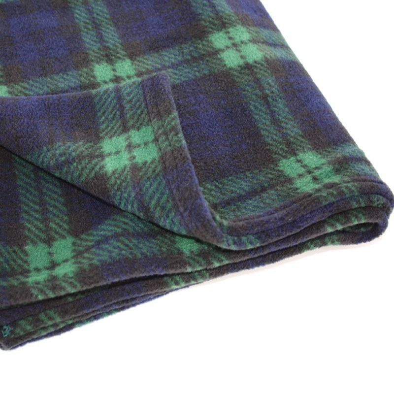 Tartan Fleece Babydecke in Black Watch Modern