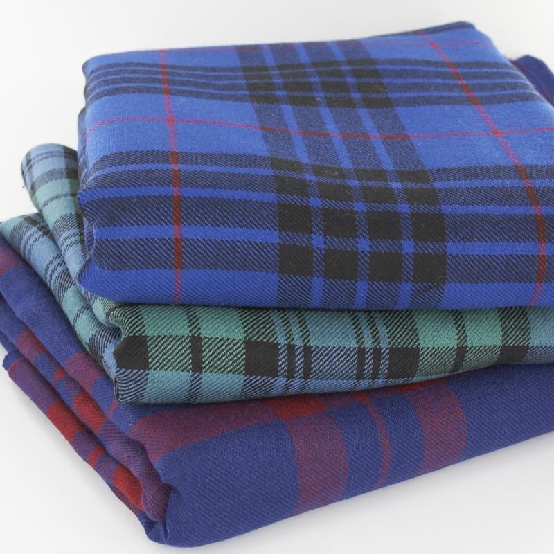 13oz Medium Weight Wool Tartan Fabric