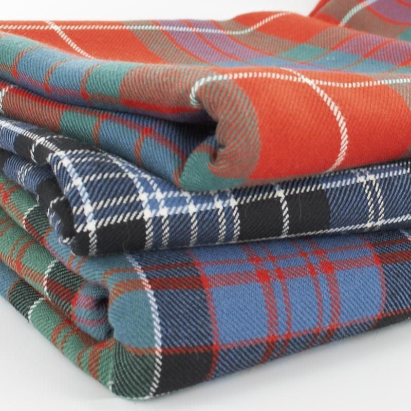 16oz Wool Tartan Fabric pile