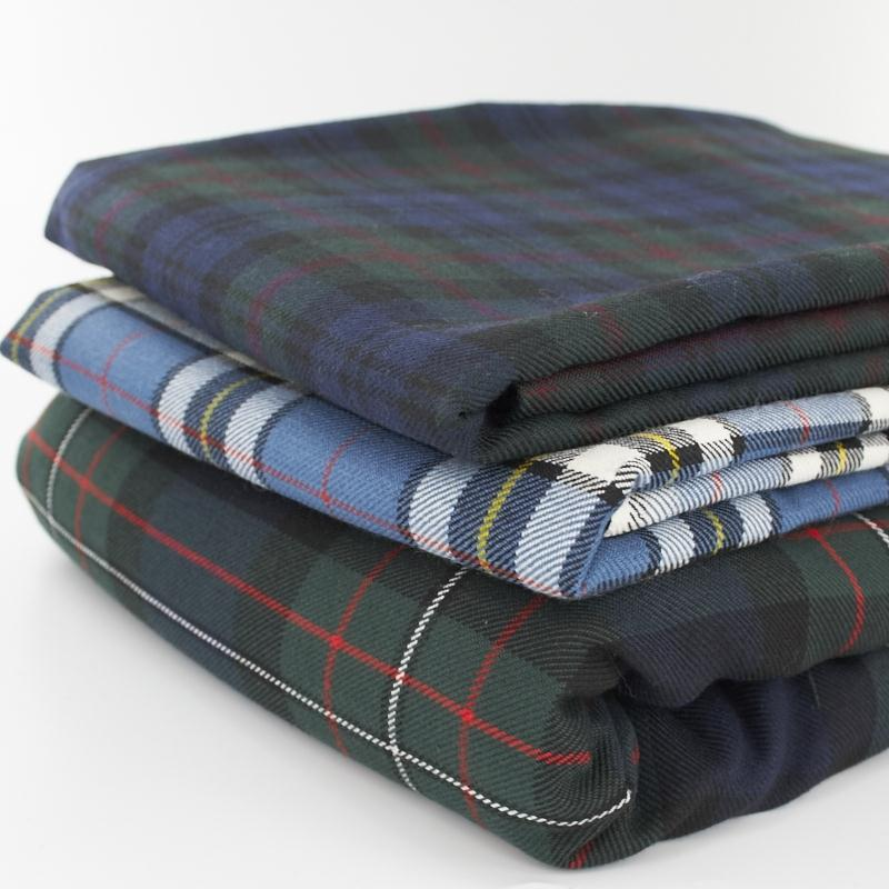 Polywool Plaid Fabric Made To Order