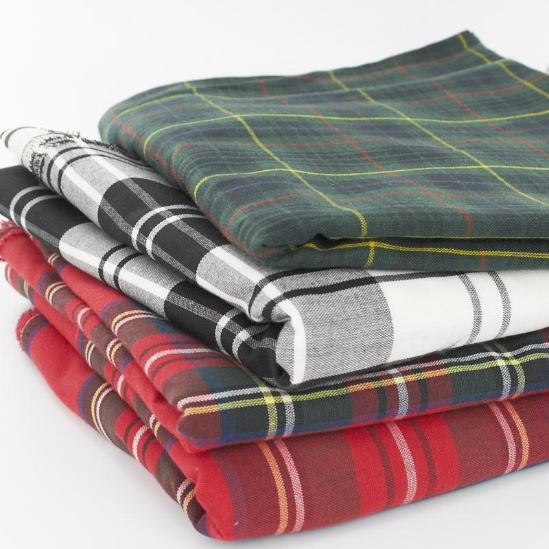 Polycotton Plaid Fabric Made To Order