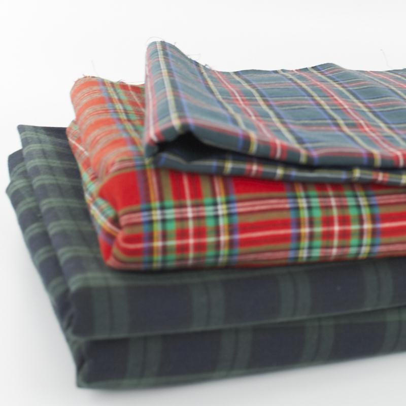 100% Cotton Tartan Fabric