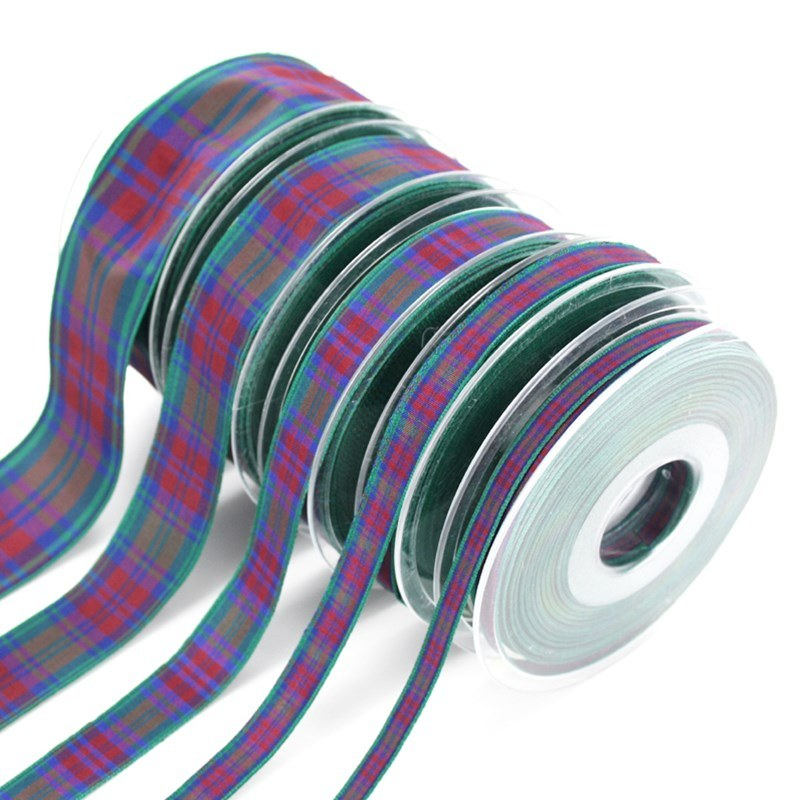 Polyester Plaid Ribbon in Lindsay Modern