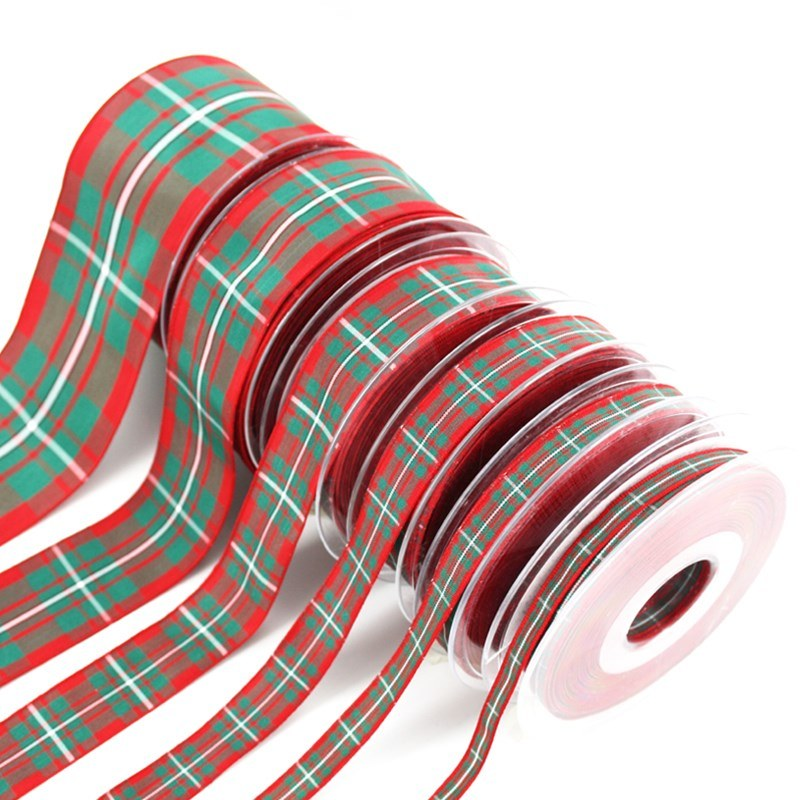 Polyester Plaid Ribbon in MacGregor Modern