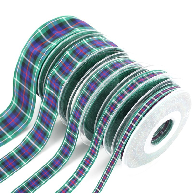 Polyester Plaid Ribbon in MacKenzie Modern