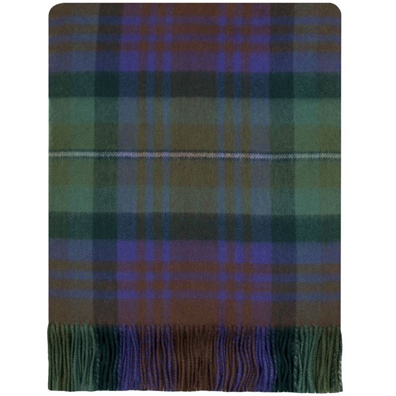 Brushed Wool Plaid Blanket in Isle of Skye