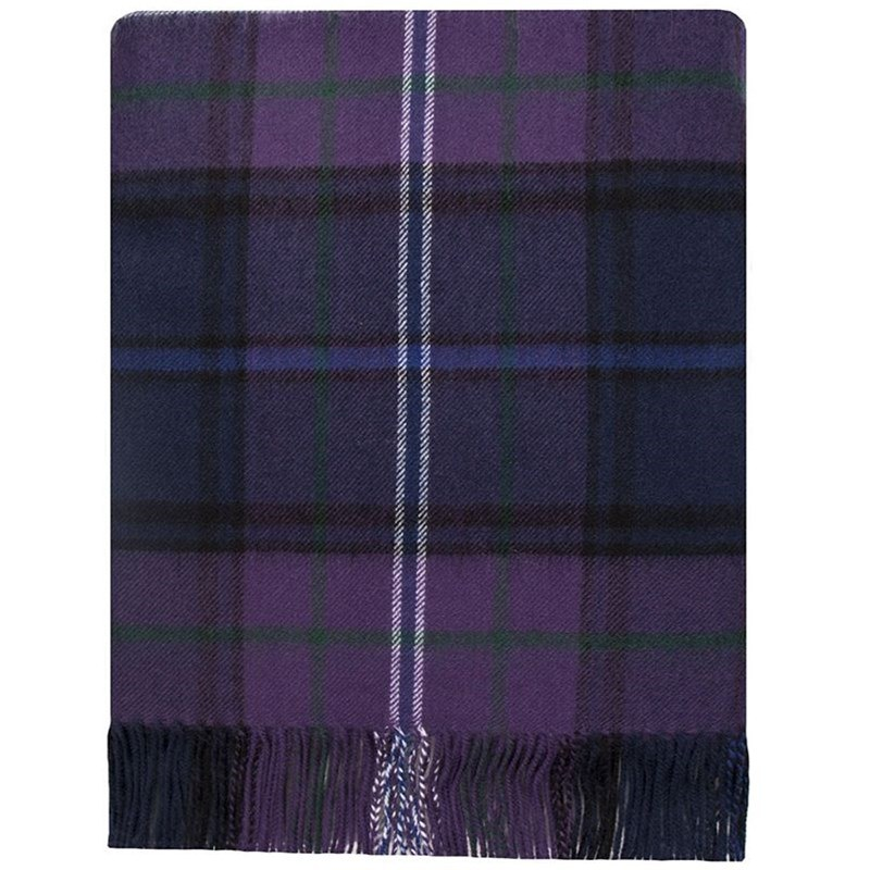 Brushed Wool Plaid Blanket in Scotland Forever