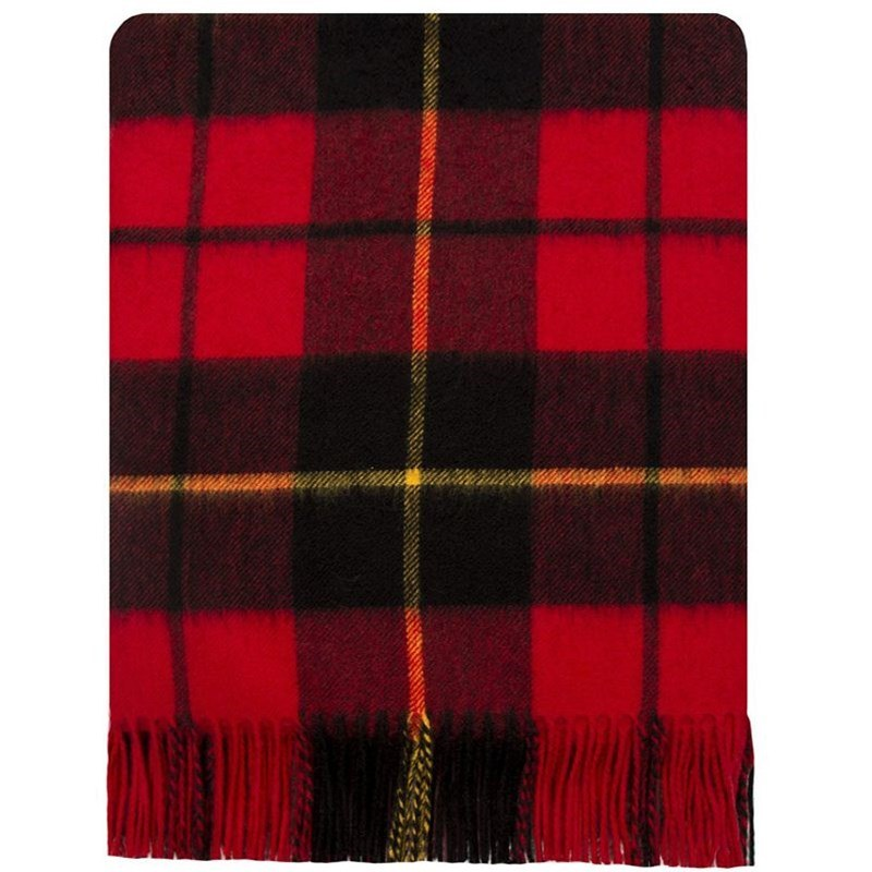 Brushed Wool Plaid Blanket in Wallace Modern