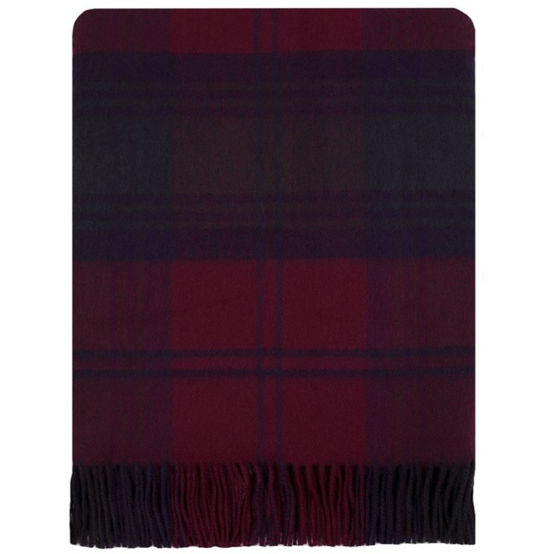 Brushed Wool Plaid Blanket in Lindsay Modern