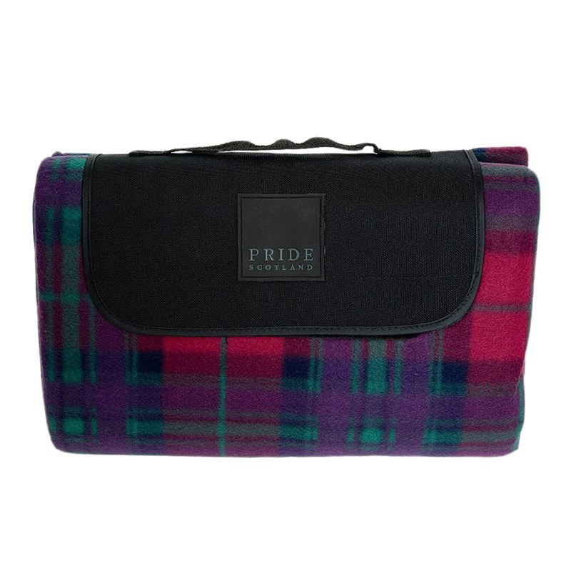 Waterproof Backed Tartan Picnic Rug in Pride of Scotland Autumn