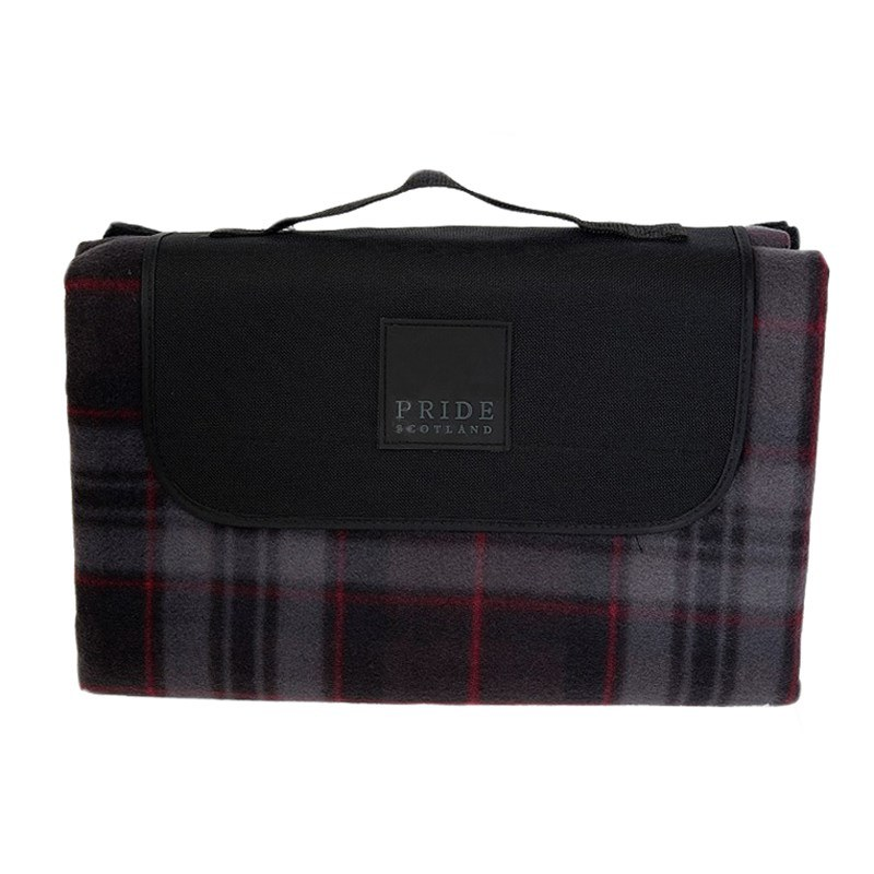 Waterproof Backed Tartan Picnic Rug in Pride of Scotland Silver