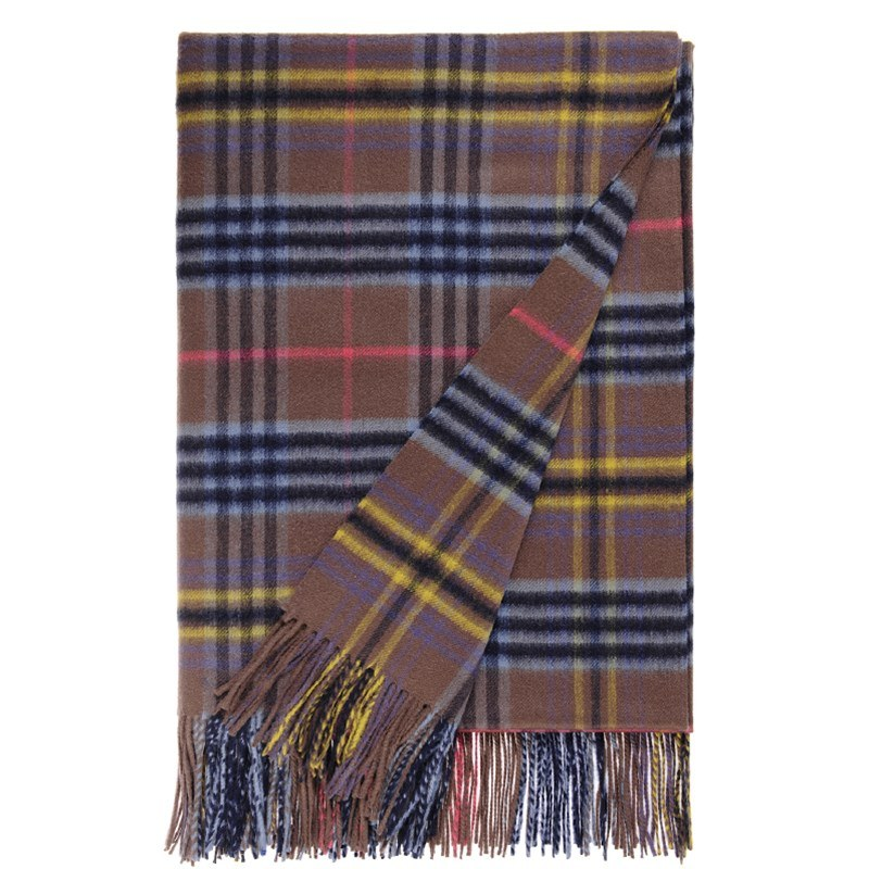 Pure Cashmere Tartan and Check Throw