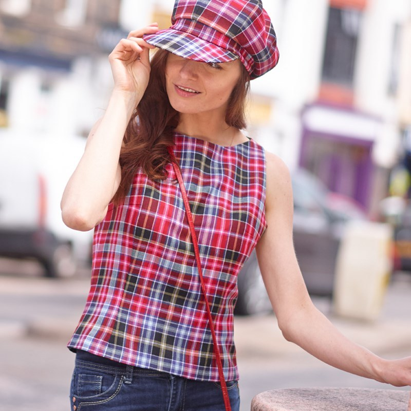 Aberdeen Round Neck Tartan Tailored Top 3