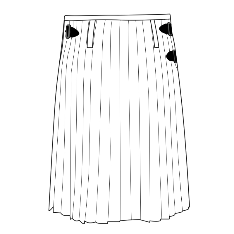 Alternate Pleat Kilt