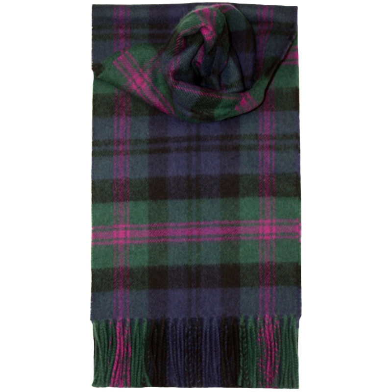 Brushed Wool Tartan Scarf in Baird Modern
