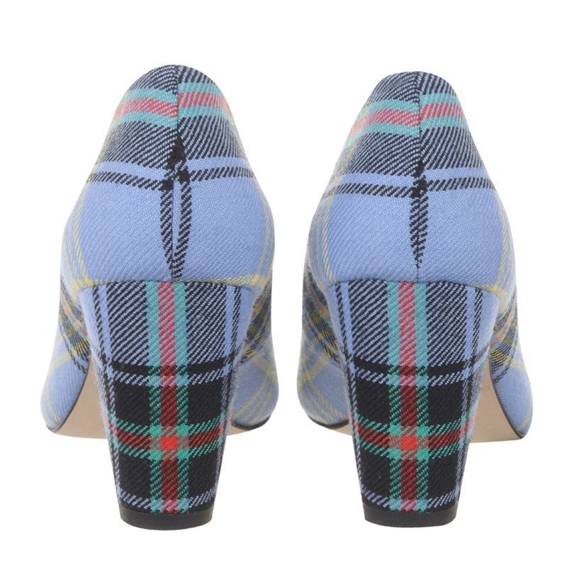 Bell Of The Borders Block Heel Tartan Shoes Heels