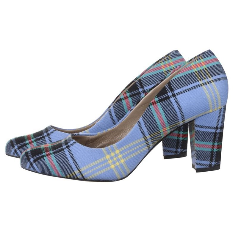Bell Of The Borders Block Heel Tartan Shoes Side