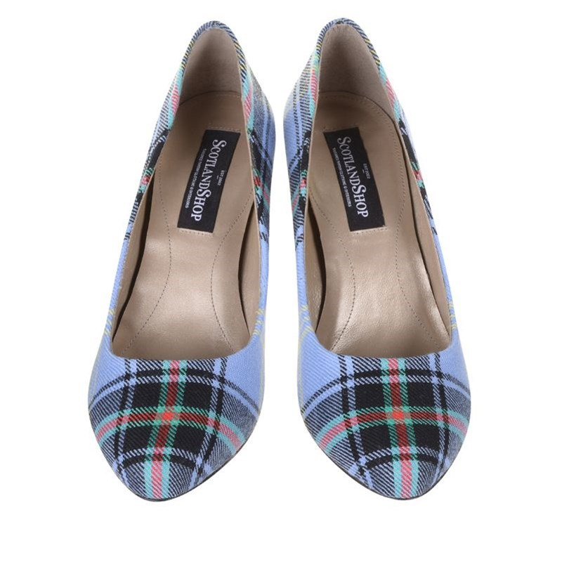 Bell Of The Borders Block Heel Tartan Shoes Front