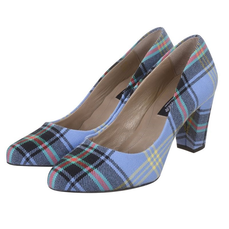 Bell Of The Borders Block Heel Tartan Shoes