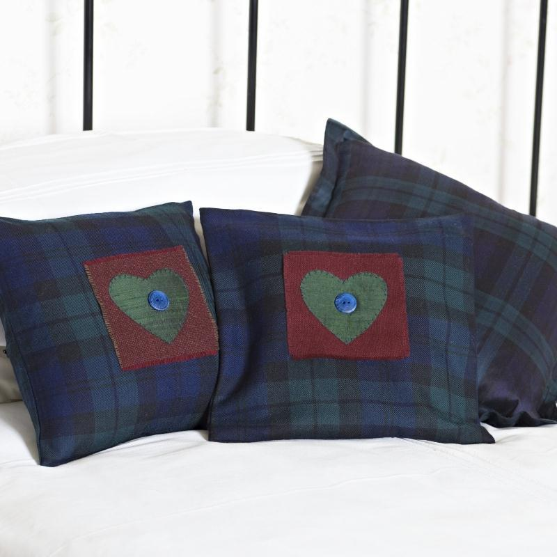 Black Watch I Love Tartan Cushion Cover