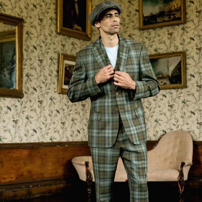 Black Watch Weathered Tartan Suit2