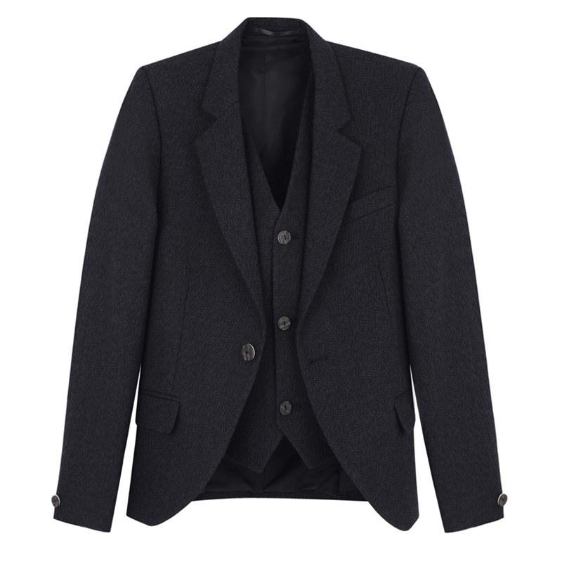 Boy's Argyll Kilt Jacket & Waistcoat in Charcoal Grey