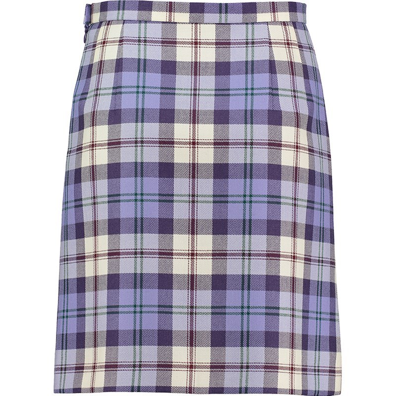 Button Detail Tartan Skirt 2
