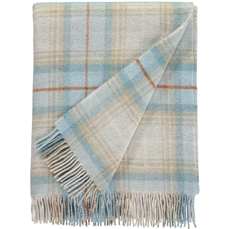 Checked Lambswool Throw
